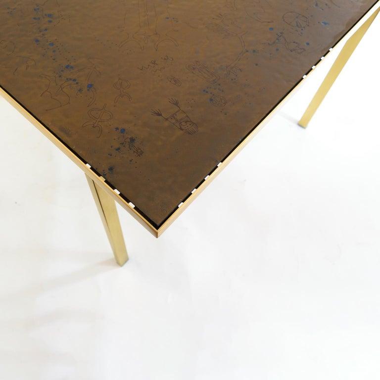 Carl Bjørn, P. Törneman Enameled Triva Coffee Table Produced by Nk Stockholm For Sale 1