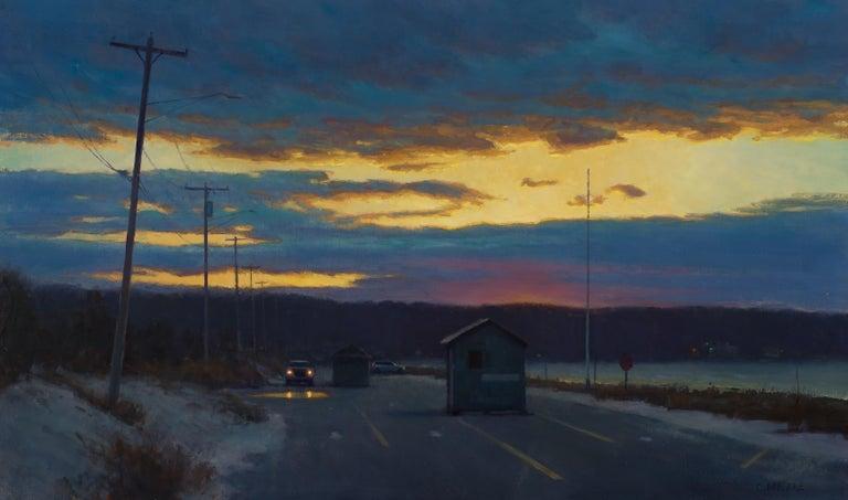Carl Bretzke Landscape Painting - Off-Season Parking