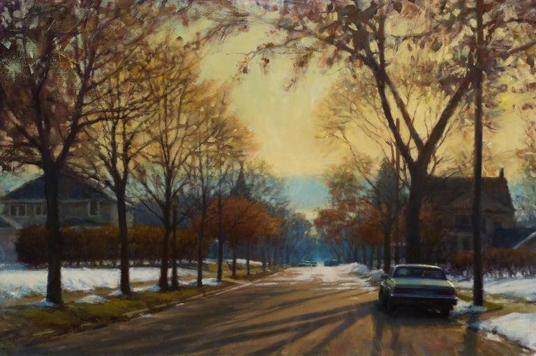 Carl Bretzke Landscape Painting - Remnants of Winter