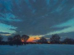 Winter Field, Late Dusk