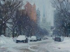 Winter Sketch on Douglas Avenue