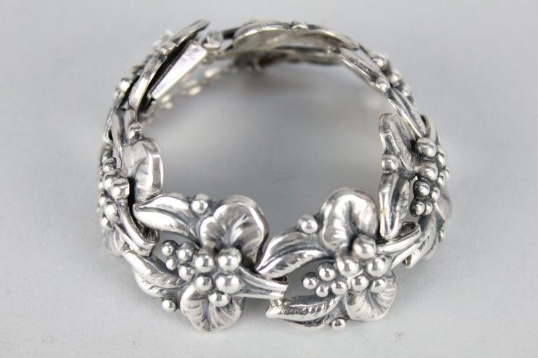 Carl Brumberg-Hansen, Danish 1940s Sterling Silver Bracelet In Good Condition For Sale In Skanninge, SE