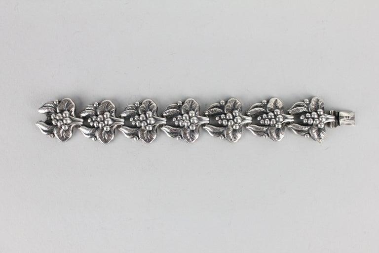 Women's or Men's Carl Brumberg-Hansen, Danish 1940s Sterling Silver Bracelet For Sale