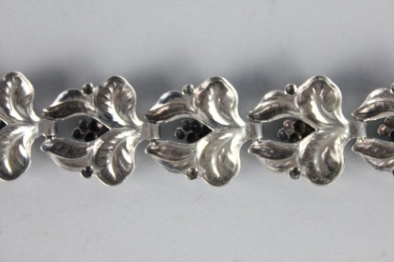 Carl Brumberg-Hansen, Danish 1940s Sterling Silver Bracelet For Sale 2