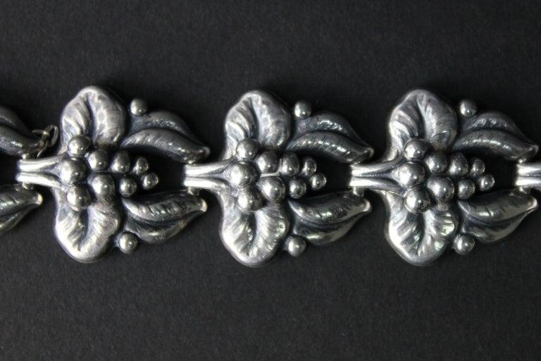 Carl Brumberg-Hansen, Danish 1940s Sterling Silver Bracelet For Sale 4