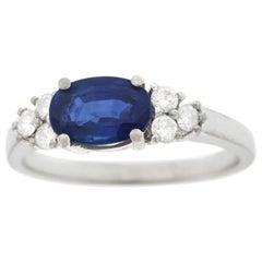 Carl Bucherer Sapphire and Diamond Set Gold Ring