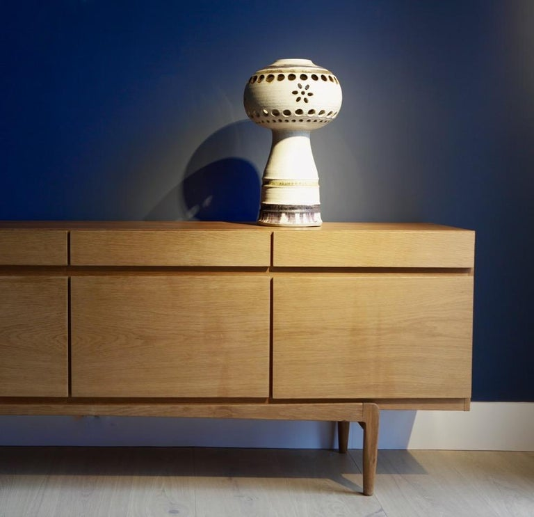 Scandinavian Modern Carl Cunningham-Cole, Glazed Stoneware Object, Denmark, 1960s For Sale