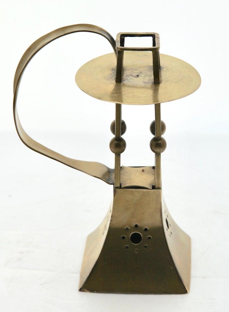 Arts and Crafts Carl Deffner, Esslingen Arts & Crafts Copper and Brass Candleholder, circa 1900