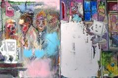 Spray Paint Figurative Paintings