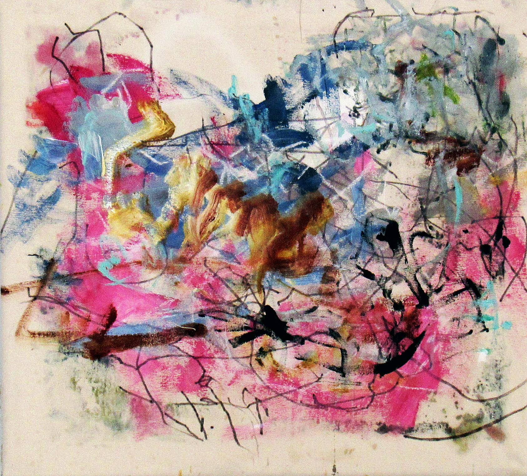 The Incredible Combustible, colorful abstract of classical figure theme