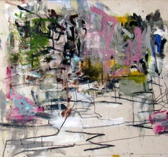 West End, colorful gestural abstract painting