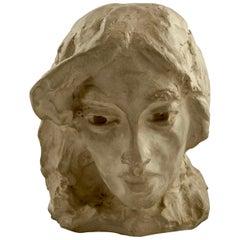 Carl Eldh Old Woman, Bust in Plaster