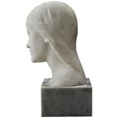 Carl Eldh, Marble Sculpture Depicting His Daughter Brita