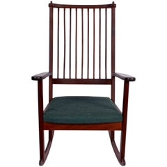 Ynge Ekstrom Rosewood Rocking Chair, 1960s