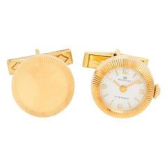 Carl F. Bucherer 18 Karat Yellow Gold Cufflinks Watch