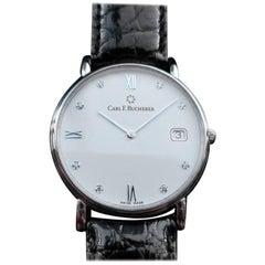 Carl F. Bucherer Men's 18k White Gold Adamavi Diamond Dress Watch, c.2010s LV853