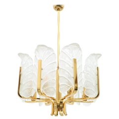 Carl Fagerlund Brass and Murano Glass Chandelier, 1960s