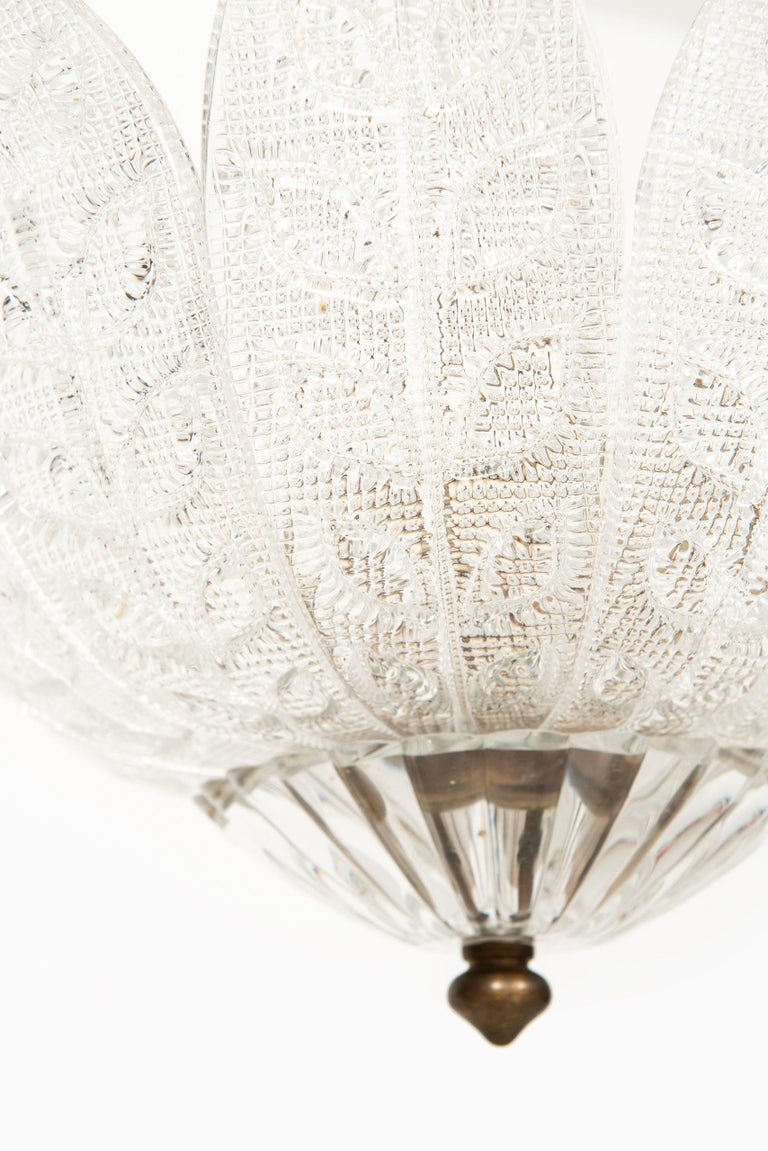 Scandinavian Modern Carl Fagerlund Ceiling Lamp Produced by Orrefors in Sweden For Sale