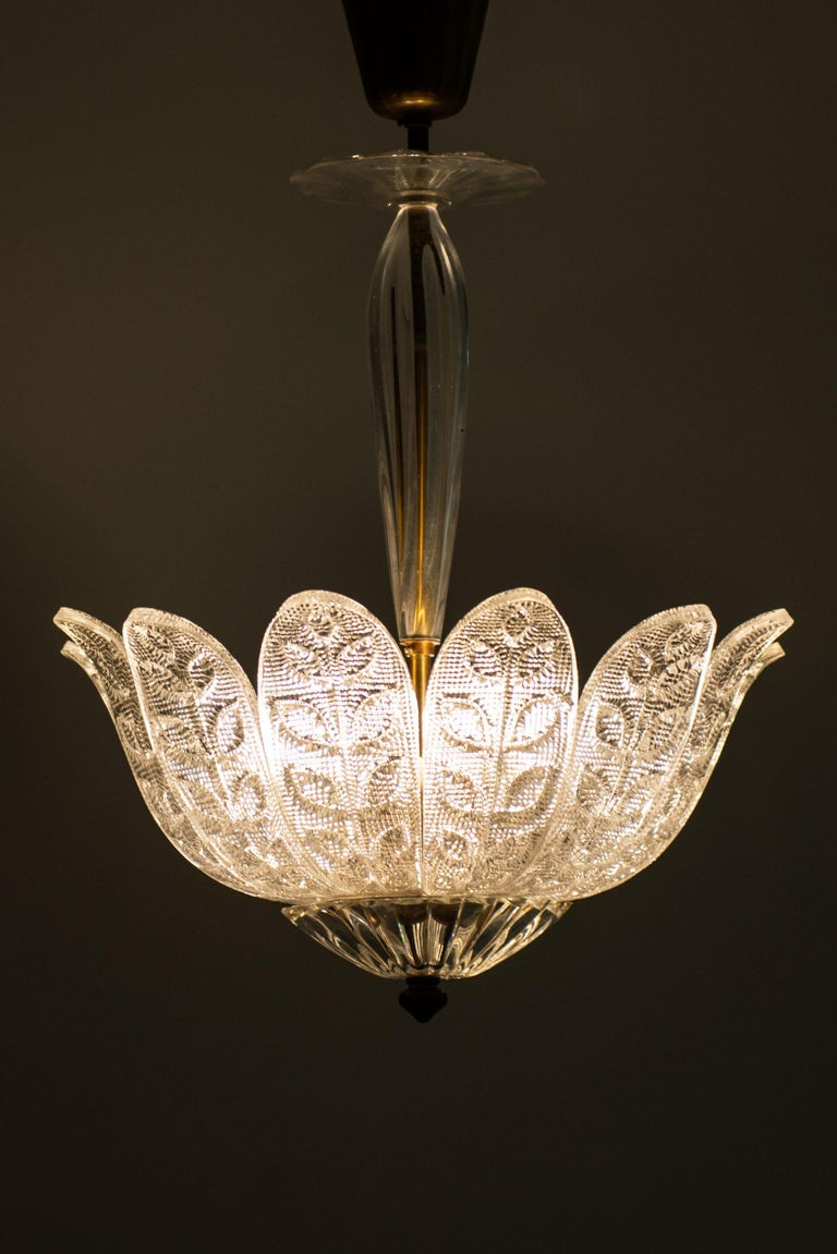 Carl Fagerlund Ceiling Lamp Produced by Orrefors in Sweden In Good Condition For Sale In Malmo, SE