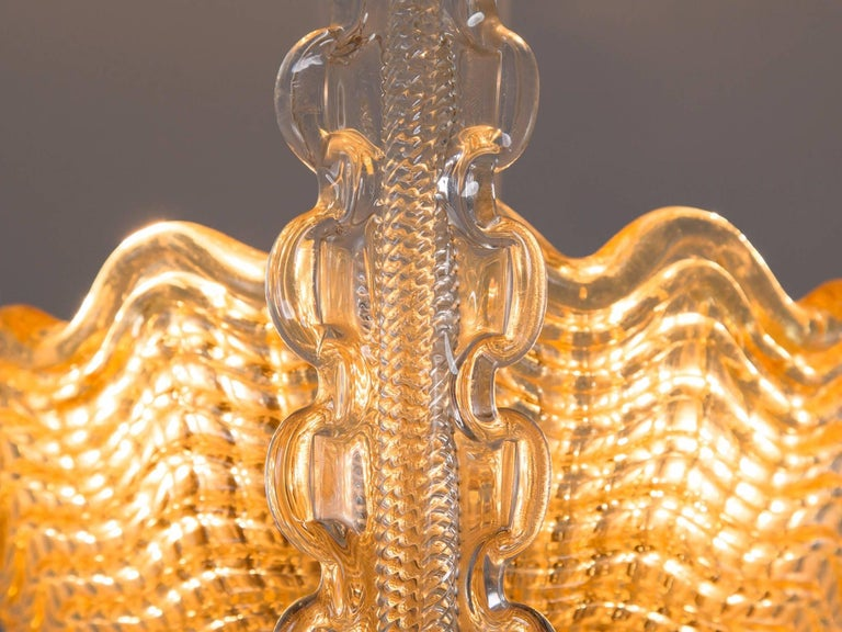 Swedish Carl Fagerlund Chandelier in Brass and Glass For Sale