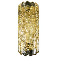 Carl Fagerlund for Orrefors Crystal and Brass Sconce