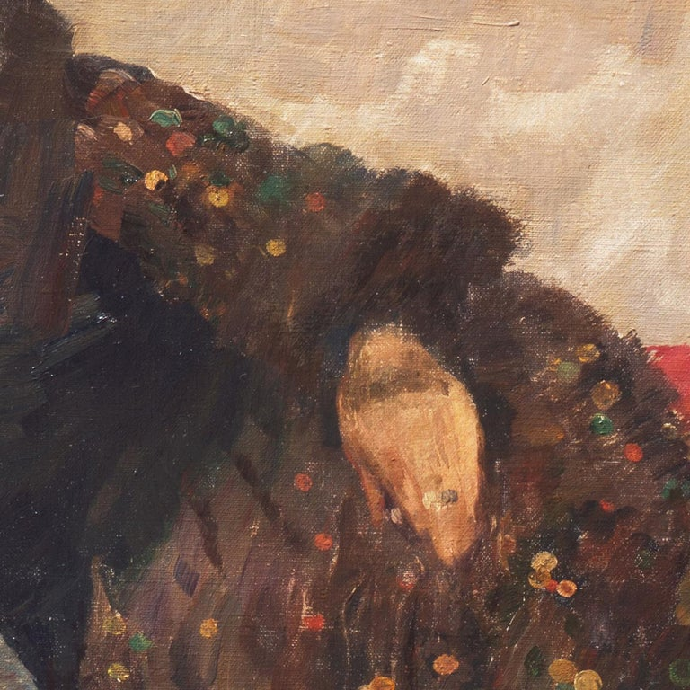 Post Impressionist Figural, 'Woman Reclining', Benezit and Thieme-Becker For Sale 9