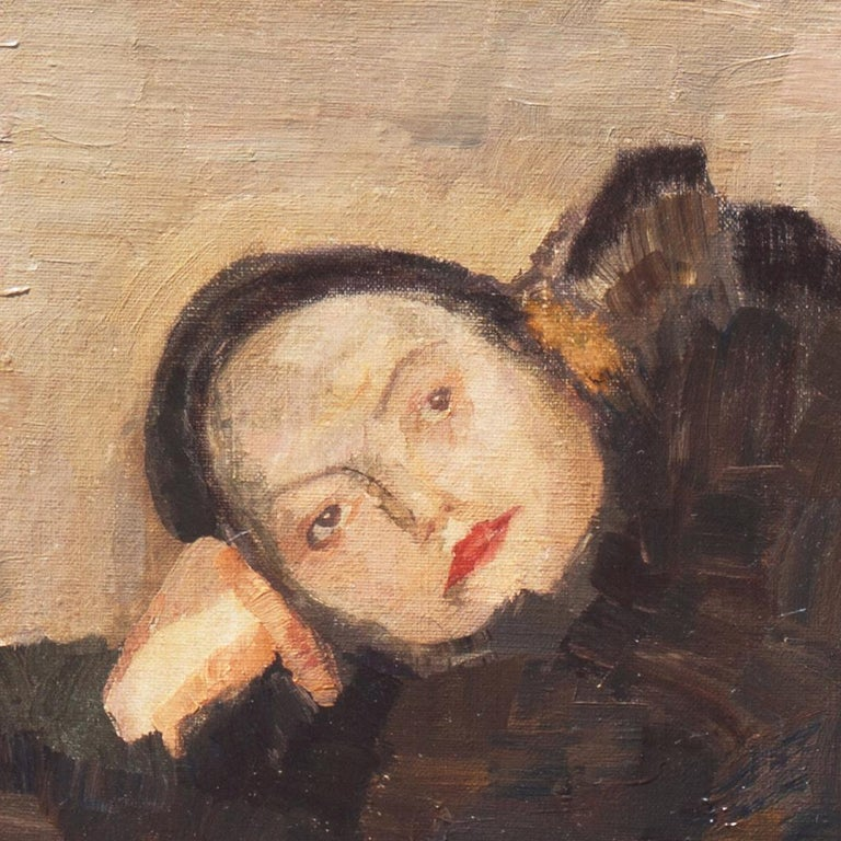 Post Impressionist Figural, 'Woman Reclining', Benezit and Thieme-Becker For Sale 10