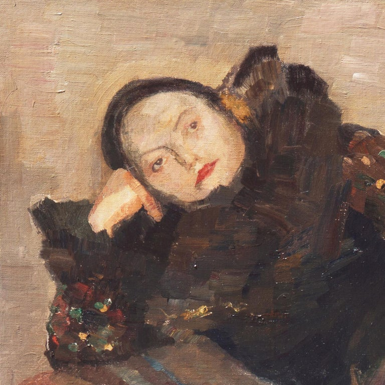 Post Impressionist Figural, 'Woman Reclining', Benezit and Thieme-Becker For Sale 3