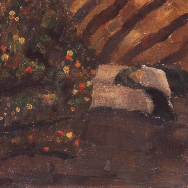 Post Impressionist Figural, 'Woman Reclining', Benezit and Thieme-Becker For Sale 5