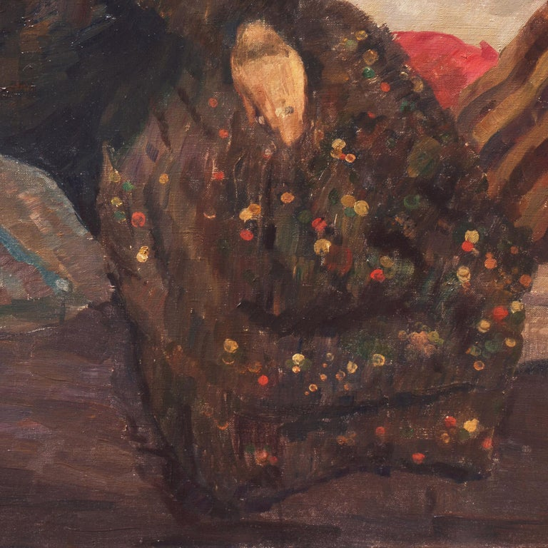 Post Impressionist Figural, 'Woman Reclining', Benezit and Thieme-Becker For Sale 8