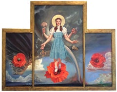 The Dorothy Altarpiece (Contemporary Wizard of Oz Icon Style Oil Painting)