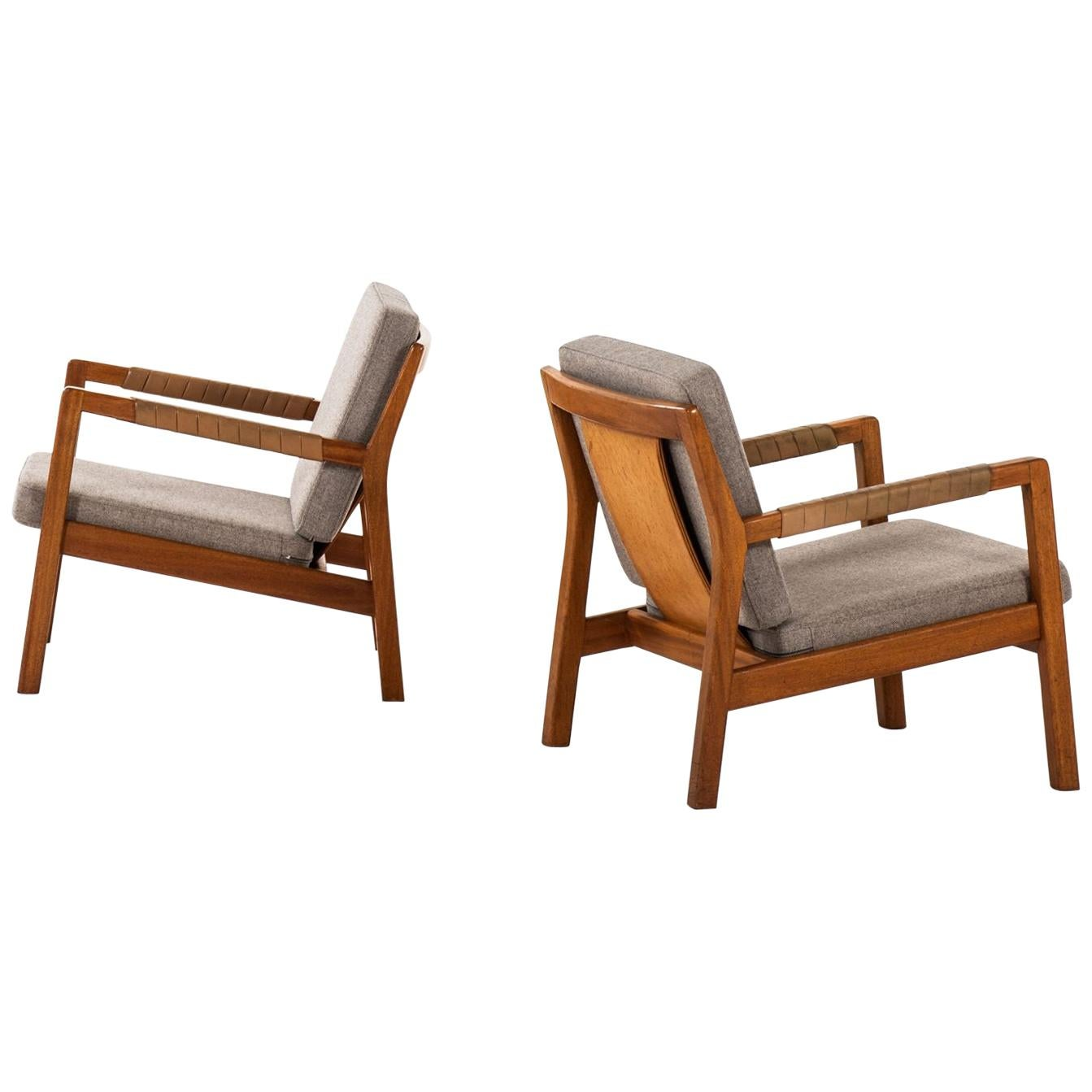 Carl Gustaf Hiort af Ornäs Easy Chairs Model Rialto by Puunveisto in Finland