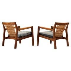Carl-Gustaf Hiort Lounge Chairs 'Rialto' in Oak