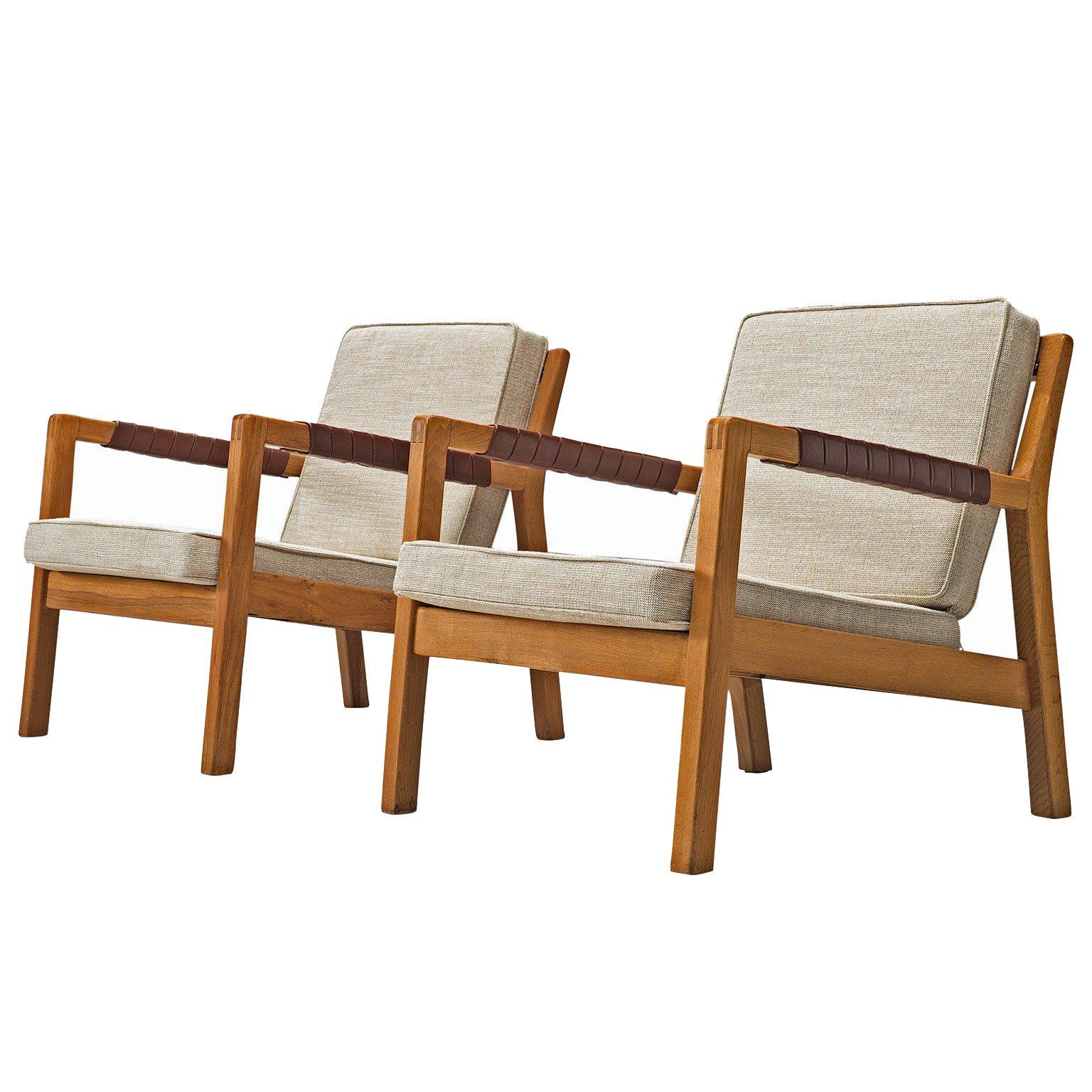 Surprising Carl Gustaf Hiort Of Ornas Oak Rialto Lounge Chairs At 1Stdibs Machost Co Dining Chair Design Ideas Machostcouk