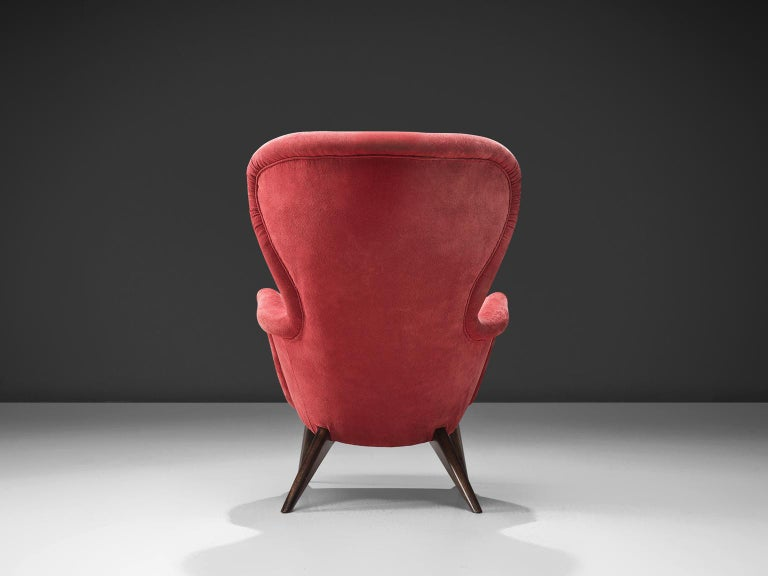 Carl Gustaf Hiort Red 'Siesta' Lounge Chair In Good Condition For Sale In Waalwijk, NL