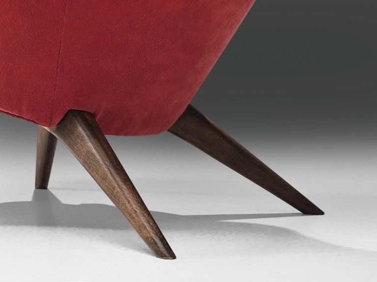 Carl Gustaf Hiort Red 'Siesta' Lounge Chair For Sale 1