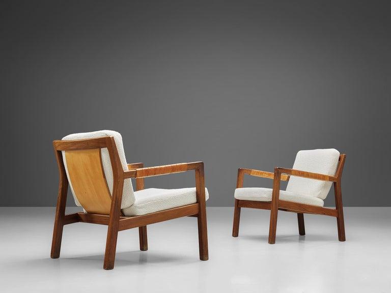Carl Gustaf Hjort af Örnas  'Trienna' Armchairs in Teak and Leather For Sale 4