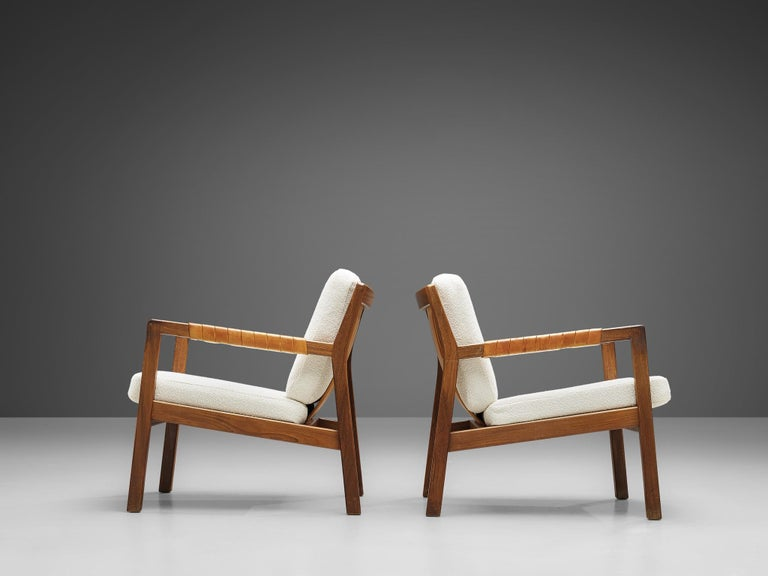 Carl Gustaf Hjort af Örnas  'Trienna' Armchairs in Teak and Leather For Sale 5