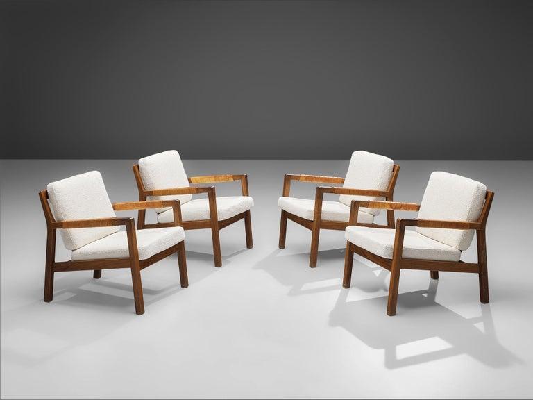 Mid-Century Modern Carl Gustaf Hjort af Örnas  'Trienna' Armchairs in Teak and Leather For Sale