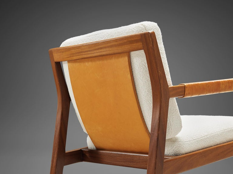 Finnish Carl Gustaf Hjort af Örnas  'Trienna' Armchairs in Teak and Leather For Sale