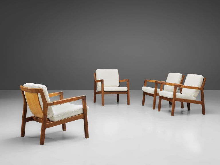 Carl Gustaf Hjort af Örnas  'Trienna' Armchairs in Teak and Leather In Good Condition For Sale In Waalwijk, NL