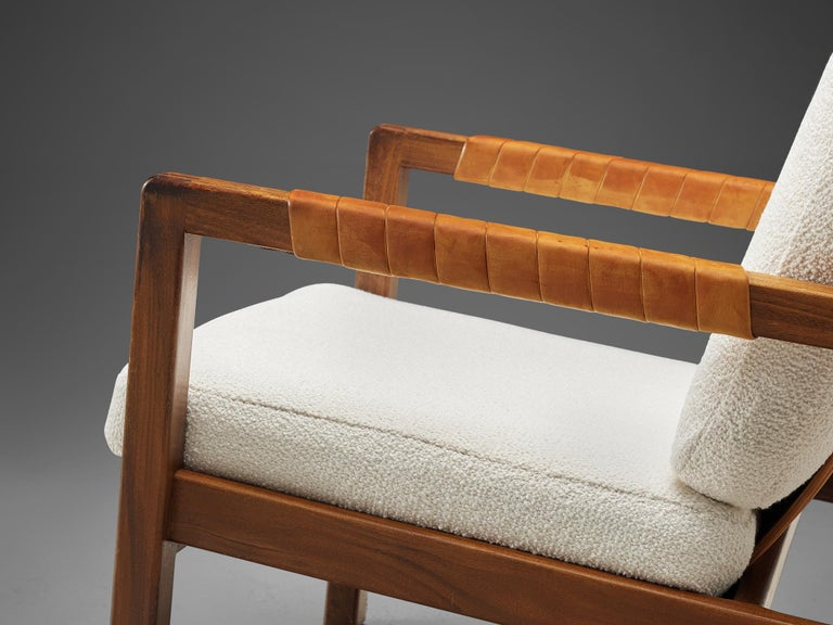Mid-20th Century Carl Gustaf Hjort af Örnas  'Trienna' Armchairs in Teak and Leather For Sale