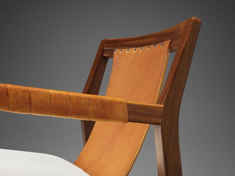 Carl Gustaf Hjort af Örnas  'Trienna' Armchairs in Teak and Leather For Sale 2