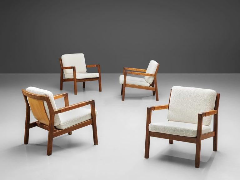 Carl Gustaf Hjort af Örnas  'Trienna' Armchairs in Teak and Leather For Sale 3
