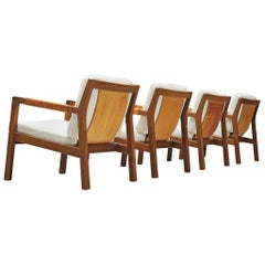 Carl Gustaf Hjort af Örnas  'Trienna' Armchairs in Teak and Leather