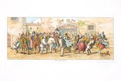 Dancing in the Street - Original Etching by C. G. Hyalmar Morner - 1820