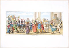 Rome, Piazza del Popolo - Original Etching by C. G. Hyalmar Morner - 1820