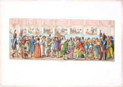 The Feast - Original Etching by C. G. Hyalmar Morner - 1820