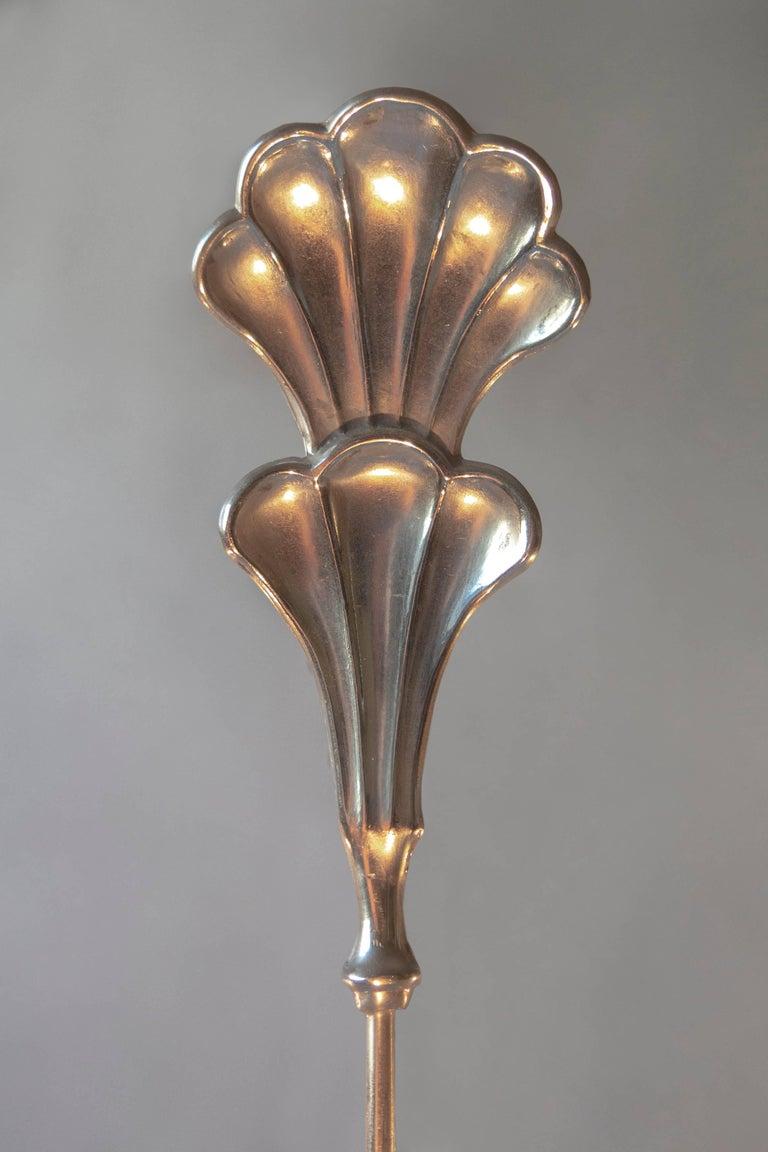 Carl Gustav Hallberg, Swedish Grace Period Silvered Chandelier In Good Condition For Sale In Philadelphia, PA