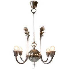 Carl Gustav Hallberg, Swedish Grace Period Silvered Chandelier